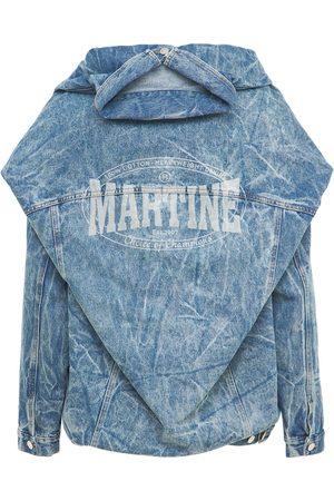 MARTINE ROSE Stitched Double Cotton Denim Jacket