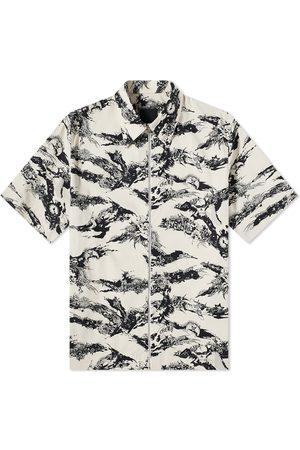Givenchy Men Short sleeves - Tiger Camo Short Sleeve Zip Shirt