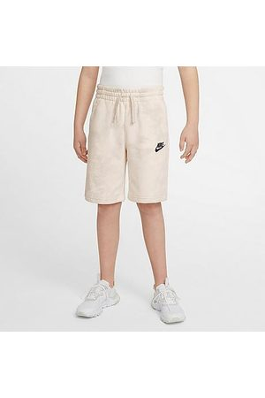Nike Boys' Sportswear Tie-Dye Magic Club Shorts in /Pale Ivory Size Small Cotton/Polyester