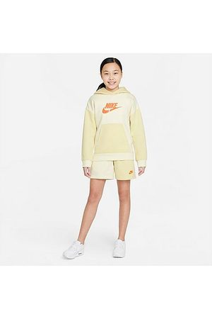 Nike Girls' Sportswear French Terry Shorts in Off-White/ /Coconut Milk Size Small Cotton/Polyester