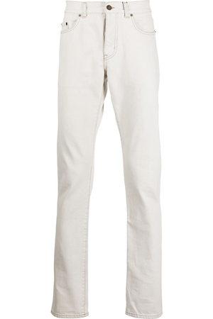 Saint Laurent Men Slim - Slim fit contrast stitch jeans
