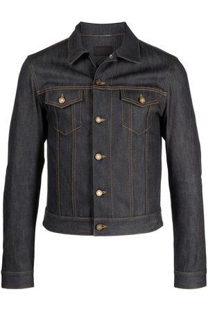 Saint Laurent Men Denim Jackets - Fitted button-front denim jacket