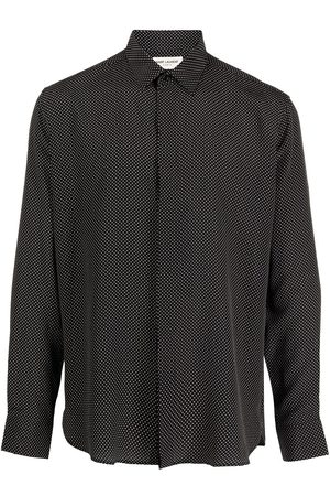 Saint Laurent Yves collar dot-print shirt