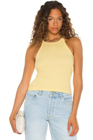 Levi's High Neck Tank in Yellow.