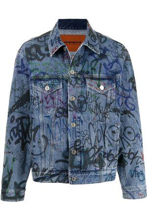 Vetements Graffiti-print denim jacket