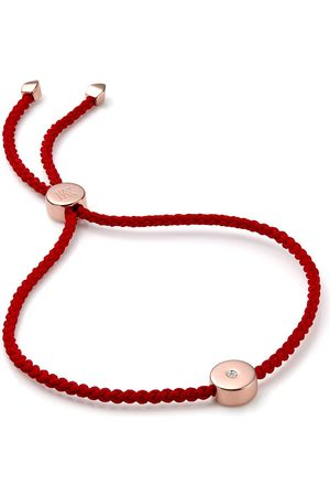 Monica Vinader 18kt rose gold vermeil Linear Solo Friendship bracelet