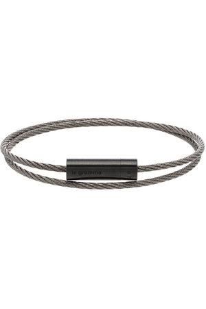 Le Gramme Men Bracelets - 7g brushed double cable bracelet