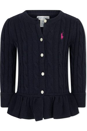 Ralph Lauren Logo-embroidered cable-knit cardigan