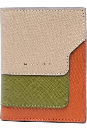 Marni Saffiano leather bi-fold tri-coloured wallet