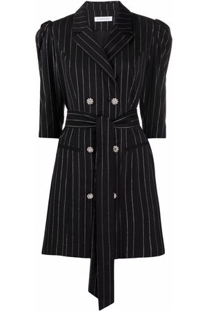 Manuel Ritz Pinstriped double-breasted dress