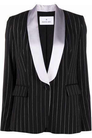 Manuel Ritz Pinstripe shawl-lapel blazer