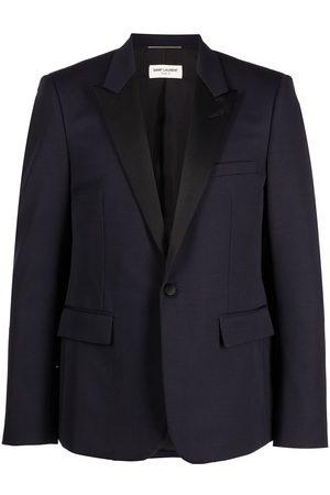Saint Laurent Men Blazers - Peak lapel tuxedo jacket
