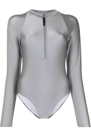 Perfect Moment Spring logo-print surf suit - Grey