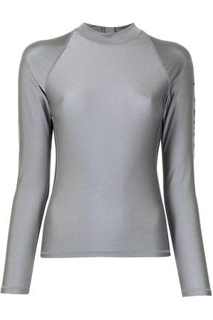 Perfect Moment Long-sleeve surf rash guard - Grey