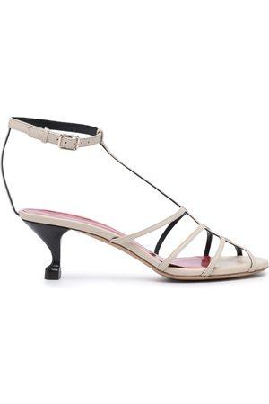 SHANGHAI TANG Women Heeled Sandals - X Yuni Ahn strappy kitten heel sandals