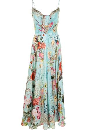 Camilla Floral-print silk dress