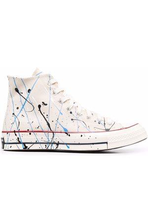 Converse Sneakers - Chuck Taylor paint splatter sneakers - Neutrals