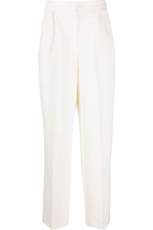 12 STOREEZ Pleated straight-leg trousers - Neutrals