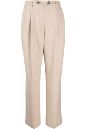 12 STOREEZ Pinched straight-leg trousers - Neutrals