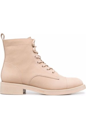 12 STOREEZ Lace-up leather ankle boots - Neutrals
