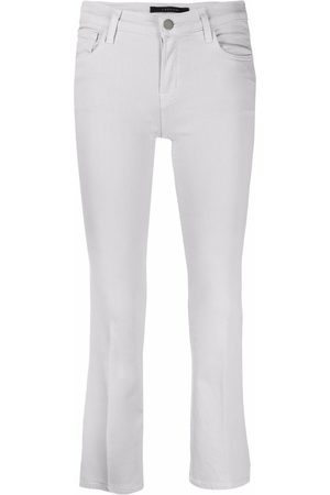 J Brand Ruby slim-fit cropped jeans - Grey