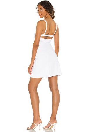 Susana Monaco Open Back Mini Dress in White.