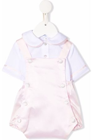 SIOLA Baby Sets - Piped-trim cotton playsuit set