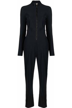 NO KA' OI Slim-cut zip-up jumpsuit