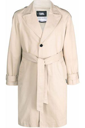 Karl Lagerfeld Logo-tape trench coat - Neutrals