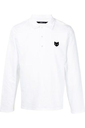 ZZERO BY SONGZIO Polo Shirts - Logo-patch long-sleeved polo shirt