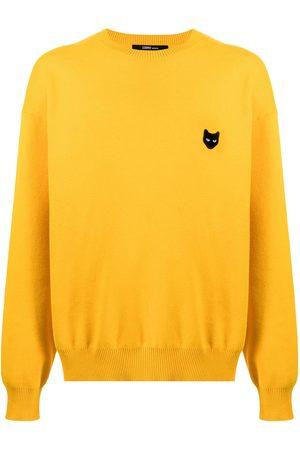 ZZERO BY SONGZIO Sweatshirts - Logo-patch pullover sweatshirt
