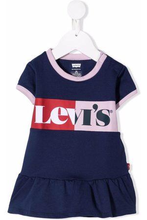 Levi's T-shirts - Logo-print ruffle-hem T-shirt