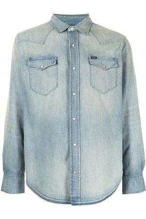 Polo Ralph Lauren Men Denim - Western faded-effect denim shirt