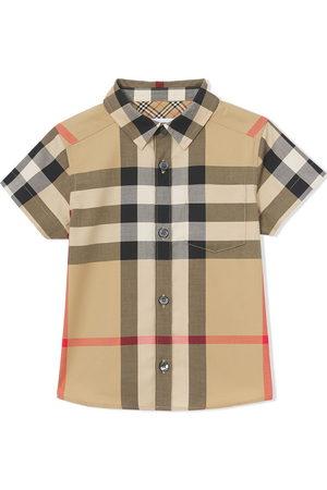 Burberry Kids Check-print cotton shirt - Neutrals