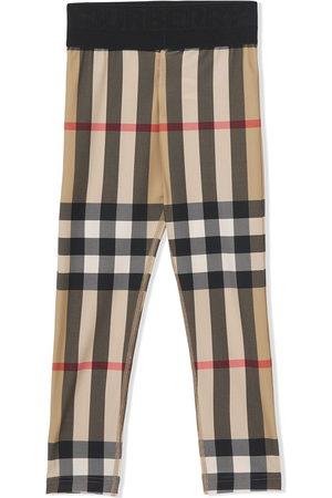 Burberry Girls Leggings - Vintage Check stretch-fit leggings