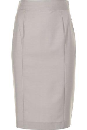 ANOUKI High-waisted pencil skirt - Grey