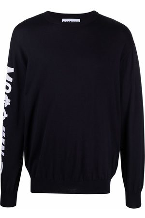 Moschino Symbols logo-embroidered knitted jumper