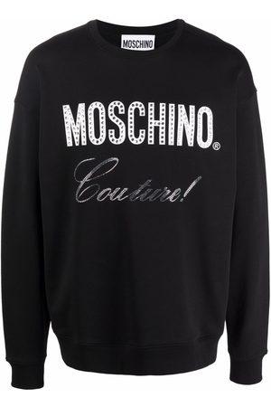 Moschino Crystal stud Couture sweatshirt