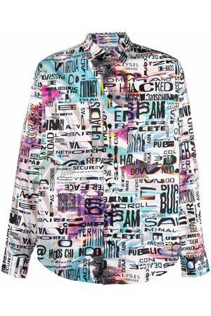 Moschino Glitch print long-sleeve shirt