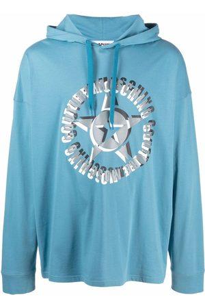 Moschino Men Hoodies - Logo-print drawstring hoodie