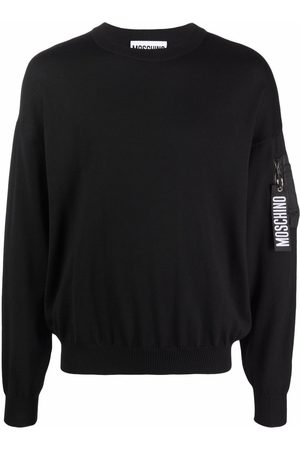 Moschino Zip pull pocket-detail knitted jumper