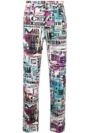 Moschino Glitch-print slim-fit jeans