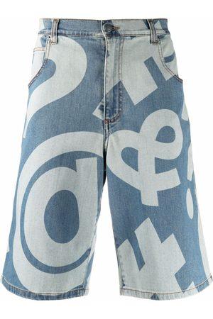 Moschino Graphic-print knee-length shorts