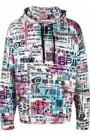 Moschino Graphic-print drawstring hoodie