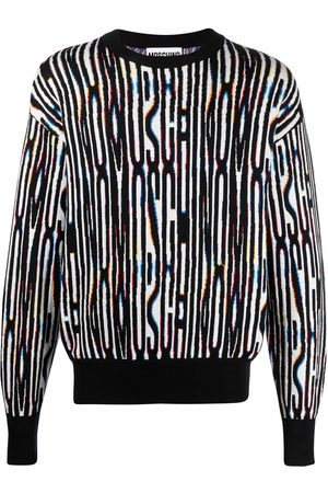 Moschino Men Sweatshirts - Intarsia-knit drop-shoulder jumper