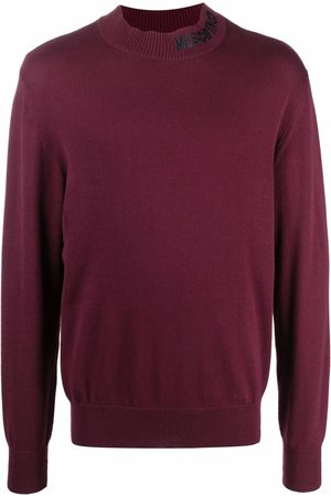 Moschino Men Long sleeves - Embroidered-logo long-sleeve jumper