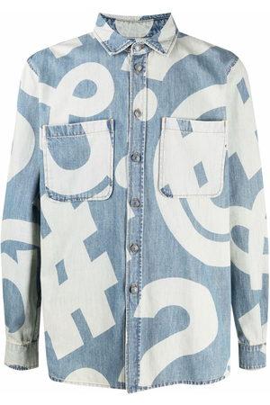 Moschino Men Denim - Graphic-print denim shirt