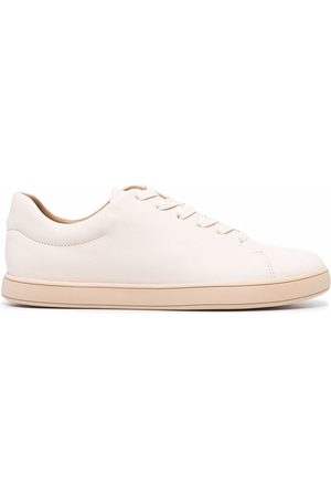 12 STOREEZ Women Sneakers - Leather lace-up trainers - Neutrals