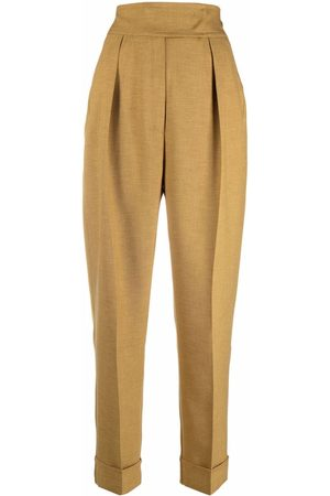 12 STOREEZ Tapered high-waisted trousers - Neutrals