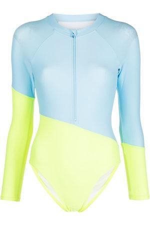 Cynthia Rowley Nazar colour-block surf suit